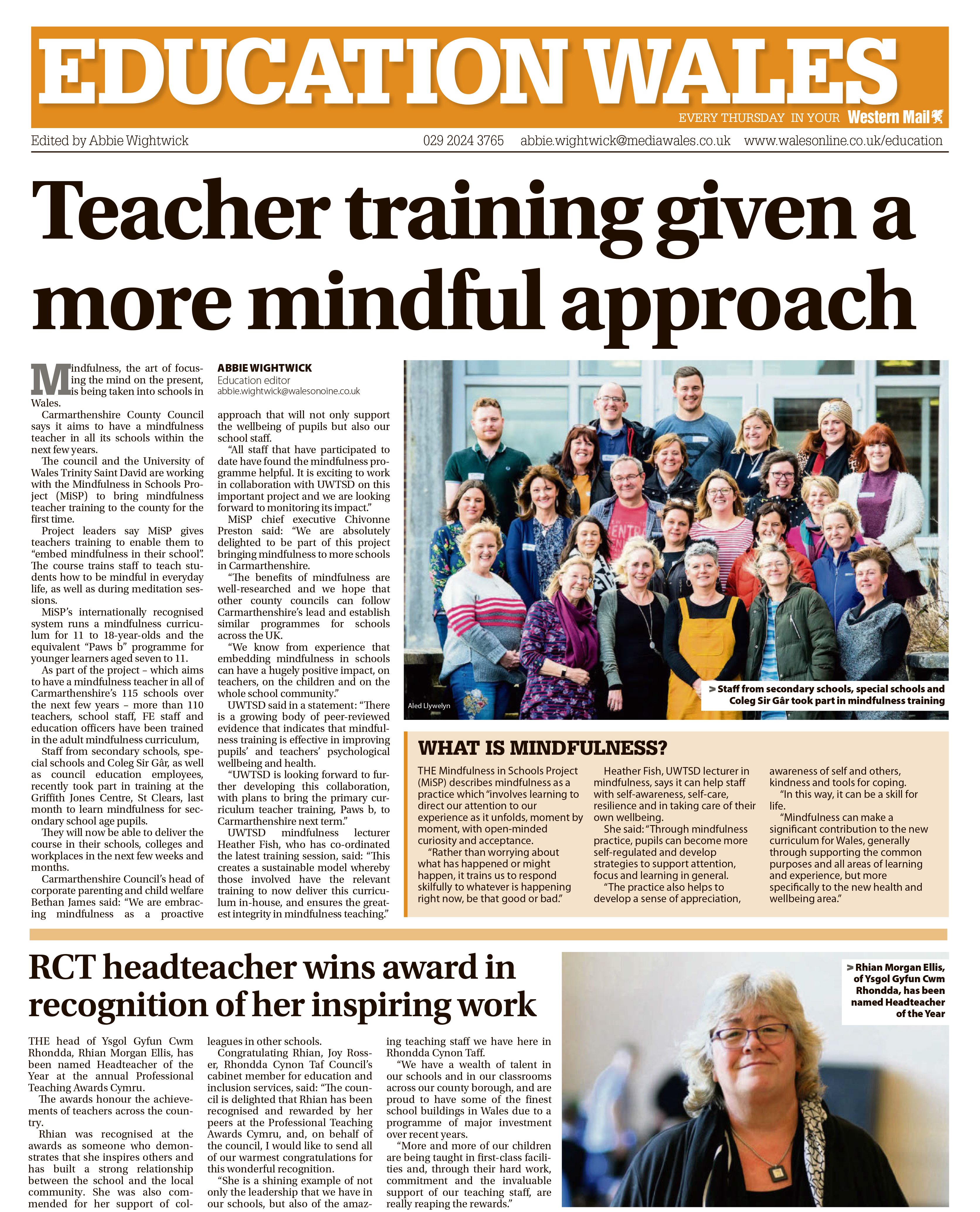 Bringing mindfulness to more schools in Wales | Mindfulness