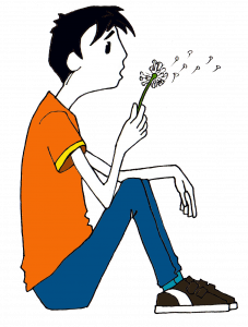 .breathe introduction to mindfulness boy blowing dandelion